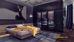 Koyu Yatak Odası Tasarımları