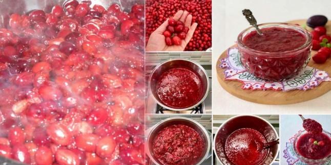 Tam kıvamında kızılcık marmelatı nasıl yapılır? En kolay kızılcık marmelatı tarifi